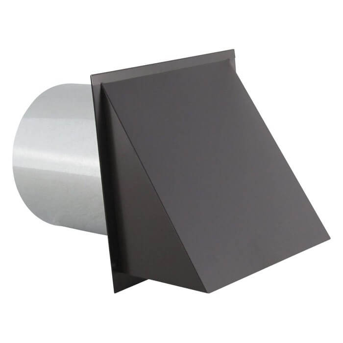 Hooded Wall Vent with Screen and Damper – Painted-0