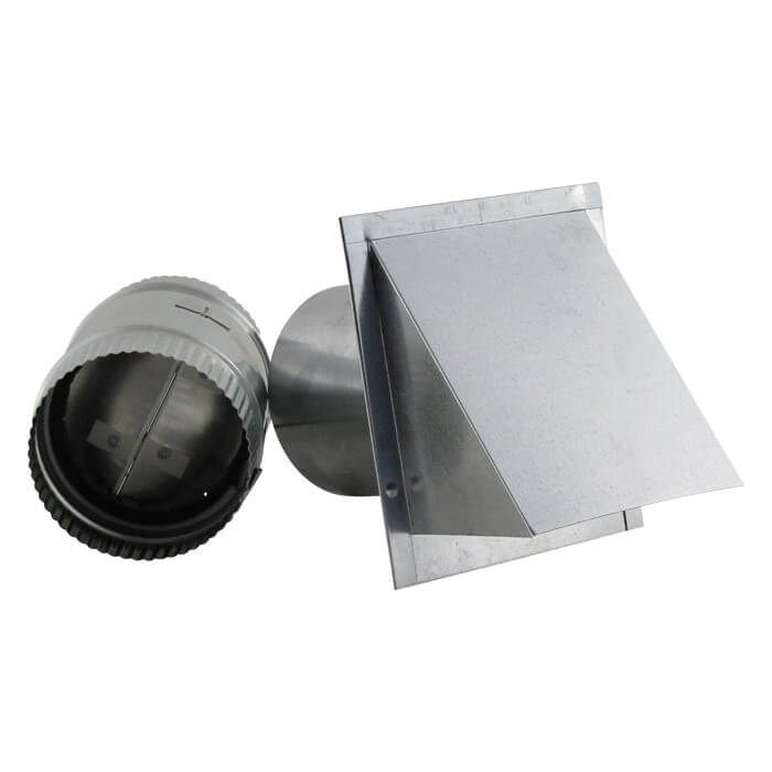Aluminum Wall Vent - Reversible Backdraft Damper-0