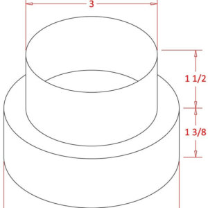 Plastic 4 inch to 3 inch Duct Reducer -1326